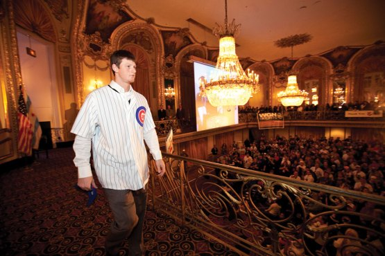 DJ LeMahieu at Cubs Convention Opening Ceremonies