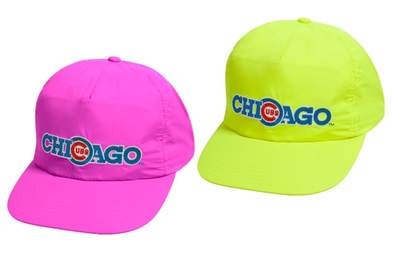 90s Day Reissue Caps Neon Pink and Yellow