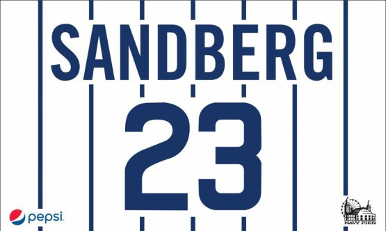 Ryne-Sandberg-Retired-Number-Flag-presented-by-Pepsi